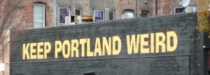Always plenty of weirdness to go around in Portland, Oregon.