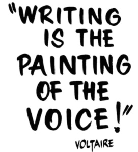 Writers paint with words.